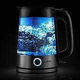 Klarstein Tiefblau Edelstahl-Glas Wasserkocher - 2