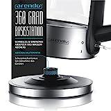 Arendo-Edelstahl-Glas Wasserkocher - 5